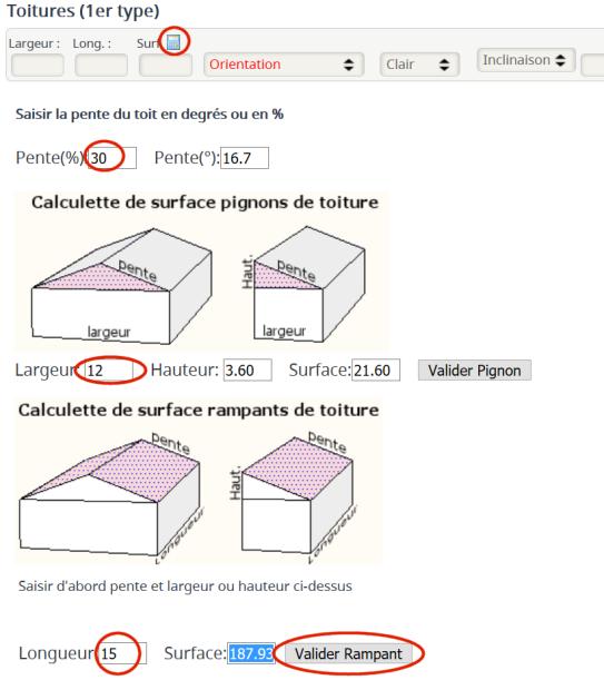 Calcul Surface Toiture En Rampant Utilisation De Comme Un Thermicien Forum Comme Un Thermicien